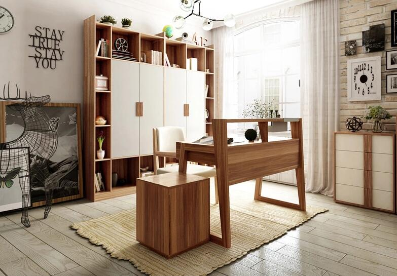 现代木质转角书桌