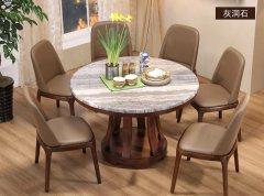 大理石餐桌组合